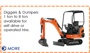 Digger hire and heavy plant machinery hire from Dial a Digger